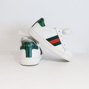 Gucci Toddler Leather Low-Top Sneakers